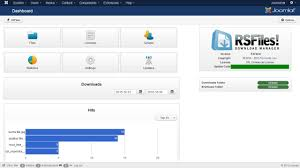 joomla templates 3 0 free download joomla file and download manager rsfiles download manager works with joomla 3 main dashboard of the rsfiles file management extension