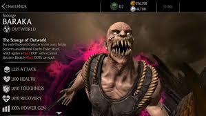 Challenge Fatality Scourge Baraka Challenge Mkx Mobile Mortal Kombat Fan Site