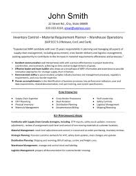 Inventory Specialist Resume Cozy Inspiration Inventory Control Resume 16 Licious Inventory