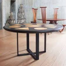alexa round dining table burnished black round dining table