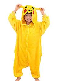 Pokemon Halloween Costumes Girls Amazon Tonwhar Pikachu Kigurumi Costumes Children Kids
