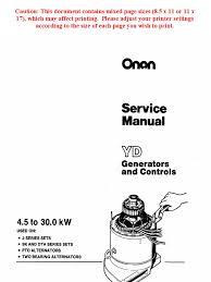 onan service manual yd generators and controls 900 0184 electric