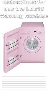 smeg washer lbe16 user guide manualsonline com