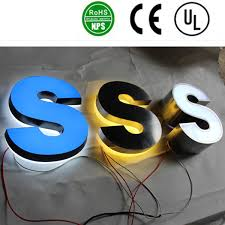full lit acrylic led channel letter for billboard sign china