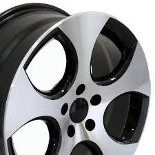 volkswagen gti wheels vw volkswagen gti style replica wheel black mach u0027d lip 18x7 5