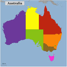 Blank Color World Map by Blank Color Map Of Australia