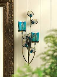amazon com exotic peacock plume wall sconce home u0026 kitchen