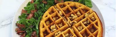 gluten free blueberry sweet potato waffles