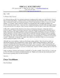 Education Cover Letter Samples Sample Cover Letter For A Teacher Job Application