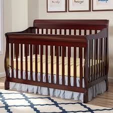 Cherry Convertible Crib Sleigh Cribs Easy Home Concepts