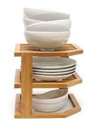 3 tier kitchen cabinet organizer lipper international bamboo 3 tier corner kitchen shelving rack