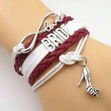 wedding bracelet gift images Infinity love burgundy themed wedding bracelets gift 50 off jpg
