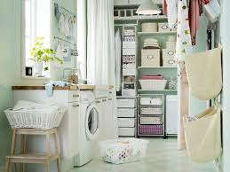 decorating area of shabby ikea laundry room designed with storage