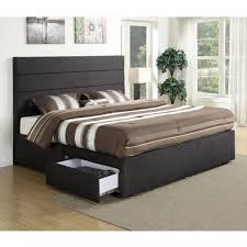 Platform Bed With Storage Underneath Size Bed With Storage Drawers Underneath Elevated Platform