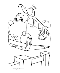 kid coloring pictures cars 003
