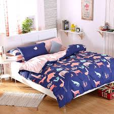 Purple Double Duvet Set Animals Queen King Size Bedding Set For Double Bed Mickey