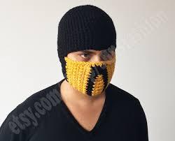 Scorpion Costume Scorpion Mortal Kombat Free Shipping Costume Mask Crochet