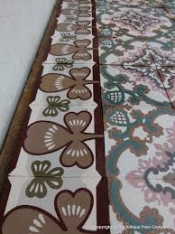 small art nouveau floor with clover themed borders the antique