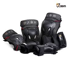 motorcycle protective gear amazon com jbm bmx bike knee pads and elbow pads with wrist