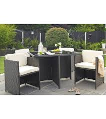 patio table with 4 chairs 5 piece garden dining set 4 chairs table rattan cube hideaway