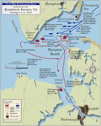 Confederate States Map by Battle Of Hampton Roads Monitor Merrimack Battle Civil War