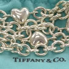 multi heart bracelet images Tiffany co sterling silver multi strand heart charms bracelet 38169 jpg
