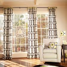 beautiful modern black and white curtains pattern on living room