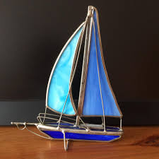 find more blue silver glass sailing boat yacht ornament 2 for