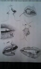 lips sketches by catwoman purr on deviantart