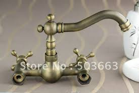 wall mounted antique brass bathroom faucet kitchen basin sink