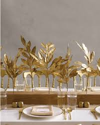 golden leaves branch centerpieces budget brides guide a
