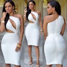 new white bandage bodycon dress 2017 club party dresses