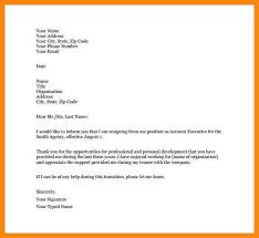 nursing resignation letter 6 formal resignation letter doc
