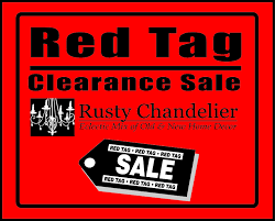red tag clearance sale december 26th to january 31st u2013 rusty