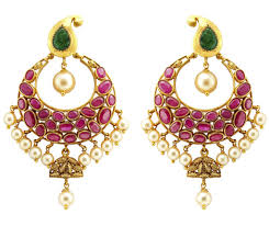 chandbali earrings chandbali earrings crafted in gold rubies emeralds jl au 105