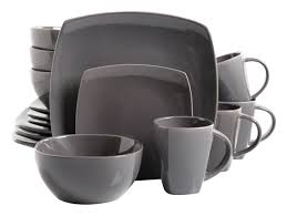 16 square dinnerware set dishes dinner stoneware plates