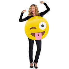 nerd costumes for halloween tongue out emoji unisex costume 354587 trendyhalloween com