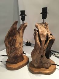 Unusual Table Lamps Lovely Unusual Pair Of Driftwood Bedside Table Lamps In