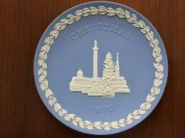 christmas plate wedgwood blue jasperware 1970 christmas plate