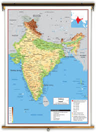 Map Of China And India by India Physical Educational Wall Map From Academia Maps