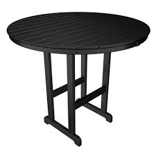 Plastic Bar Table Bar Height Tables Outdoor Bar Furniture The Home Depot