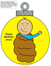 baby jesus ornament cutouts craft