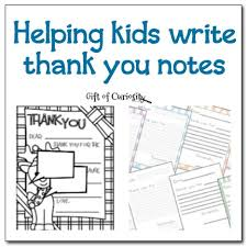 helping kids write thank you notes weekly kids u0027 co op gift of