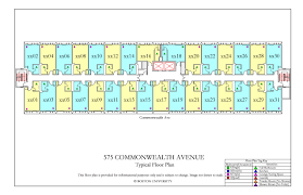 575 commonwealth ave floor plan housing boston university