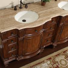 72 Vanity Cabinet Only Amazon Com Silkroad Exclusive Travertine Stone Top Double Sink