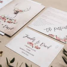 stag do invite stag and rose country wedding invitations by i am nat