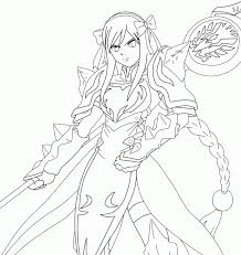 fairy tail erza coloring pages sketch coloring page coloring home