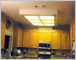 Fluorescent Lights For Kitchens Ceilings by Alluring Box Fluorescent Lighting With Stained Glass In The