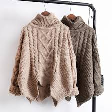 warm winter sweaters itgirl shop front knit braid lines earth colors warm