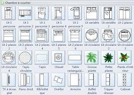 orientation lit chambre symboles de plan d étage